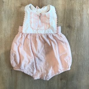 Baby pink and ivory ROMPER